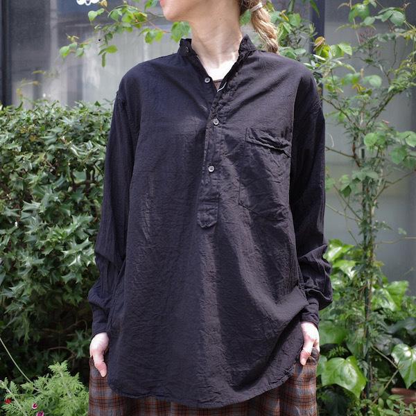 プルオーバーバンドカラーシャツ COMOLI_d0364239_19132556.jpg
