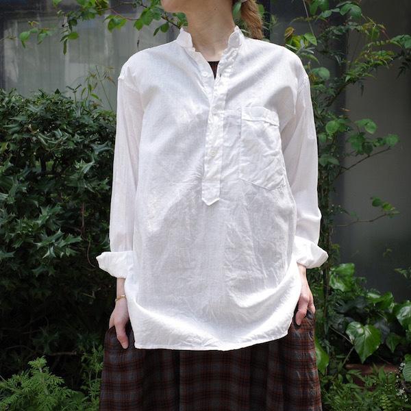 プルオーバーバンドカラーシャツ COMOLI_d0364239_19145700.jpg
