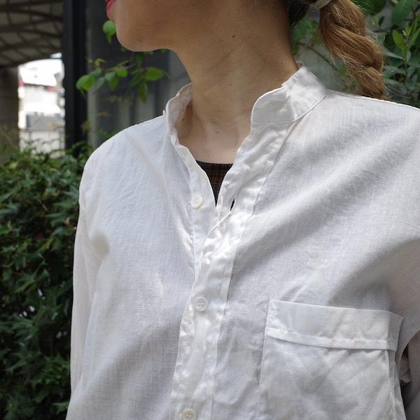 プルオーバーバンドカラーシャツ COMOLI_d0364239_19151534.jpg