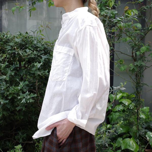 プルオーバーバンドカラーシャツ COMOLI_d0364239_19153281.jpg