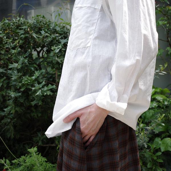 プルオーバーバンドカラーシャツ COMOLI_d0364239_19154726.jpg