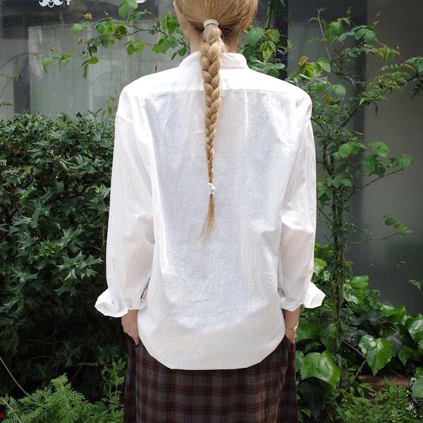 プルオーバーバンドカラーシャツ COMOLI_d0364239_19160254.jpg