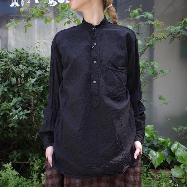 プルオーバーバンドカラーシャツ COMOLI_d0364239_19164055.jpg