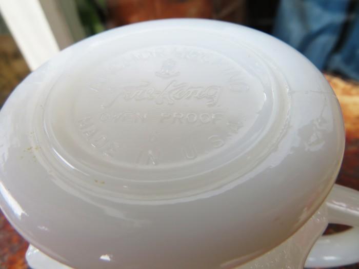 Fire King Kimberly Mug White + 新型コロナウイルス感染予防対策_e0187362_16423585.jpg