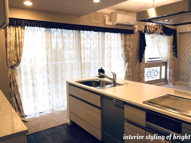同じ部屋で柄とデザインの違うカーテン 『クラーク&クラーク』『ヴィラノヴァ』『イオニア』_c0157866_12565136.jpg