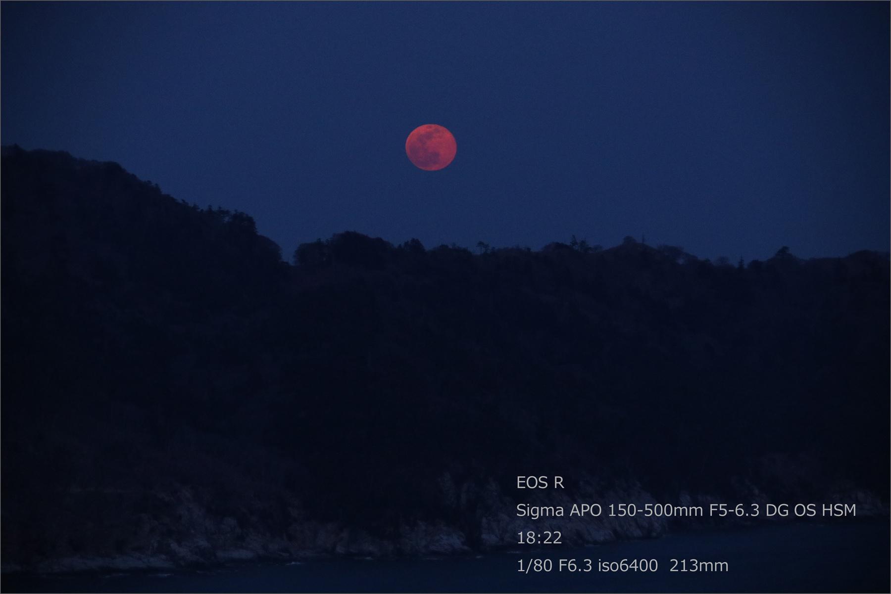 赤い満月 / スーパームーン_b0191074_21451946.jpg