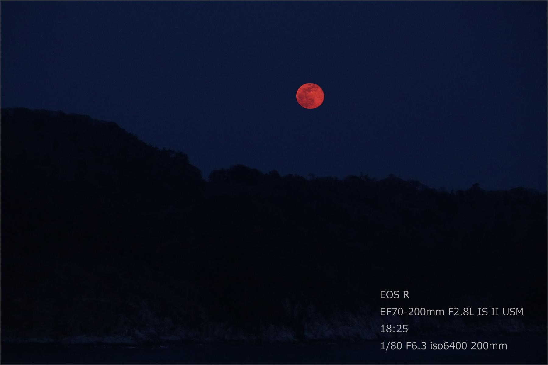 赤い満月 / スーパームーン_b0191074_21452685.jpg