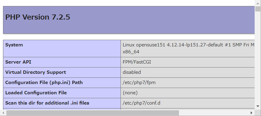 SUSE Linux 15(openSUSE15.1 Leap) で php7 on nginx_a0056607_16114819.png