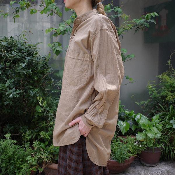 プルオーバーバンドカラーシャツ COMOLI_d0364239_12010246.jpg