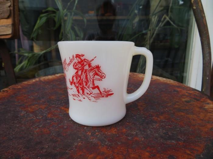 50\'s Fire King D Mug Davy Crockett + 明日、水曜日は店休日となります_e0187362_12282133.jpg