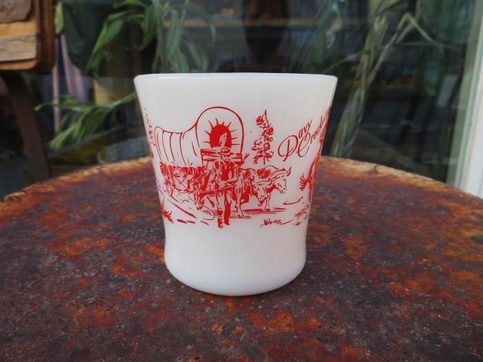 50\'s Fire King D Mug Davy Crockett + 明日、水曜日は店休日となります_e0187362_12301350.jpg