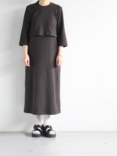 THE HINOKI Organic Cotton 3/4 Sleeve Layered Dress (PRODUCTS FOR US)_b0139281_11201375.jpg