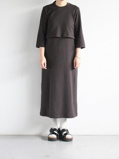 THE HINOKI Organic Cotton 3/4 Sleeve Layered Dress (PRODUCTS FOR US)_b0139281_11215033.jpg