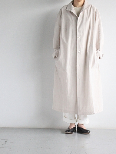 THE HINOKI Cotton Voile Stand Up Collar Shirt Dress (LADIES ONLY)_b0139281_13262444.jpg