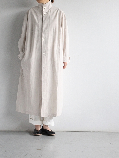 THE HINOKI Cotton Voile Stand Up Collar Shirt Dress (LADIES ONLY)_b0139281_1326316.jpg