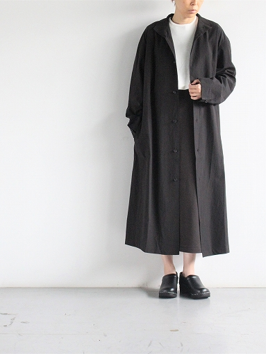 THE HINOKI Cotton Voile Stand Up Collar Shirt Dress (LADIES ONLY)_b0139281_13263941.jpg