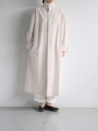 THE HINOKI Cotton Voile Stand Up Collar Shirt Dress (LADIES ONLY)_b0139281_13324514.jpg