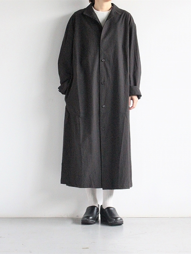 THE HINOKI Cotton Voile Stand Up Collar Shirt Dress (LADIES ONLY)_b0139281_13334185.jpg
