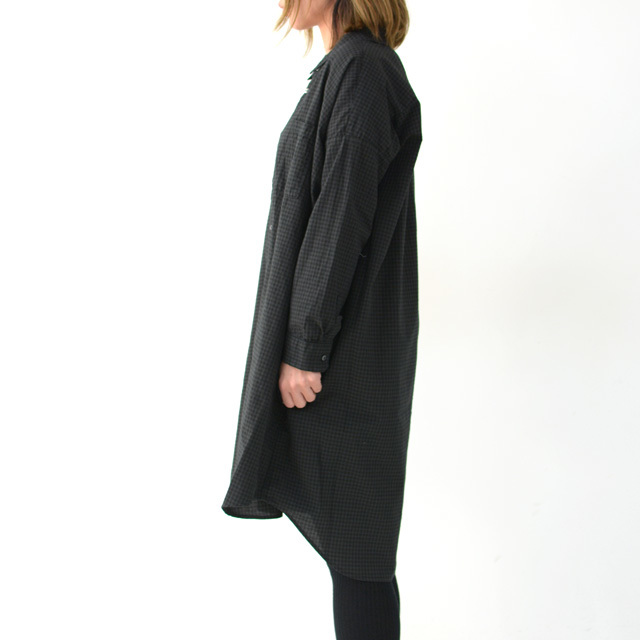 ordinary fits [オーディナリーフィッツ] LONG BARBER SHIRTS CHECK [OF-S026] ロングバーバーシャツ・ギンガムチェックシャツ・レディース・_f0051306_16054619.jpg