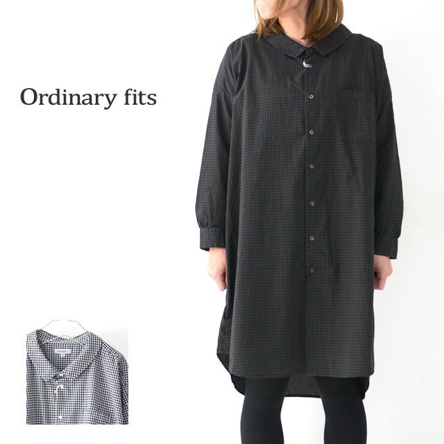 ordinary fits [オーディナリーフィッツ] LONG BARBER SHIRTS CHECK [OF-S026] ロングバーバーシャツ・ギンガムチェックシャツ・レディース・_f0051306_16054672.jpg