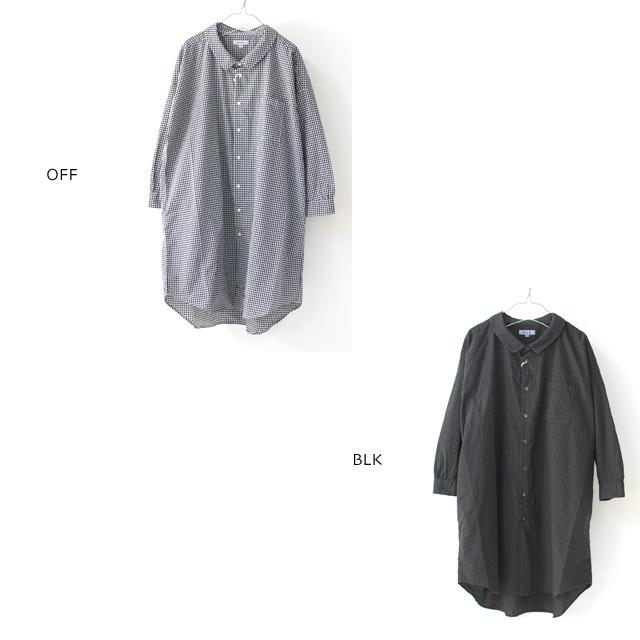 ordinary fits [オーディナリーフィッツ] LONG BARBER SHIRTS CHECK [OF-S026] ロングバーバーシャツ・ギンガムチェックシャツ・レディース・_f0051306_16054792.jpg