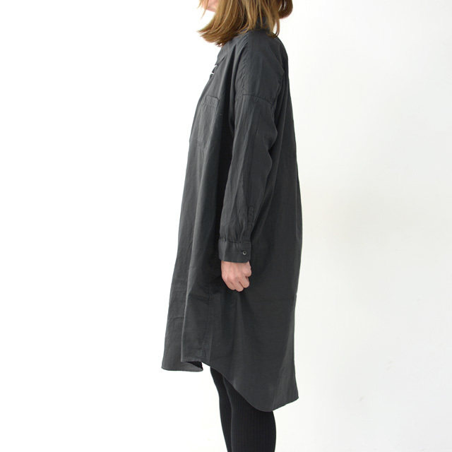 ordinary fits [オーディナリーフィッツ] LONG BARBER SHIRTS SOLID [OF-S025] ロングバーバーシャツ・ロングシャツ・レディース_f0051306_16223305.jpg