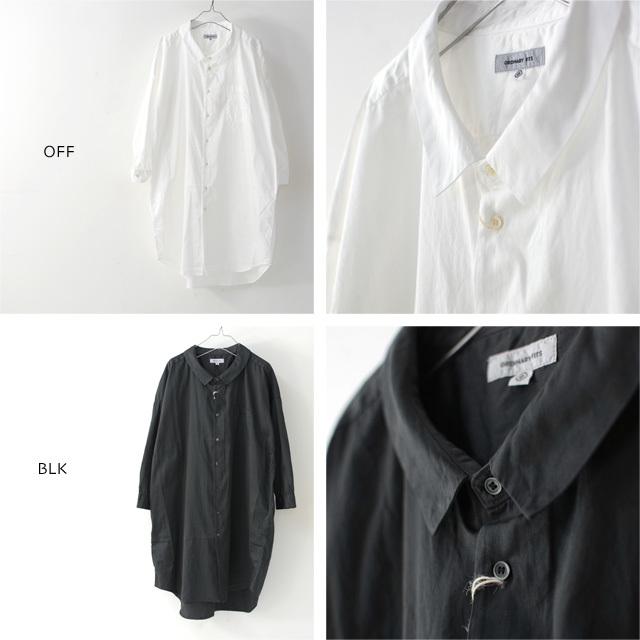 ordinary fits [オーディナリーフィッツ] LONG BARBER SHIRTS SOLID [OF-S025] ロングバーバーシャツ・ロングシャツ・レディース_f0051306_16223340.jpg