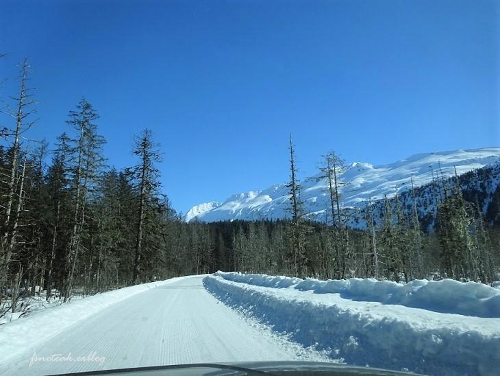 残雪 凍った道_d0356844_12515405.jpg