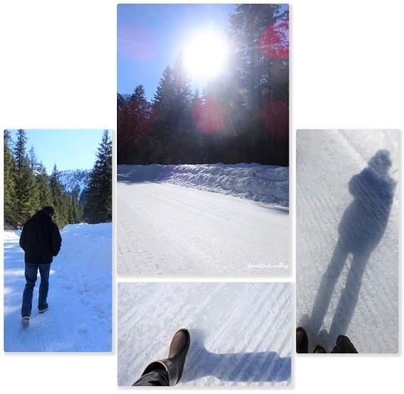 残雪 凍った道_d0356844_12570328.jpg