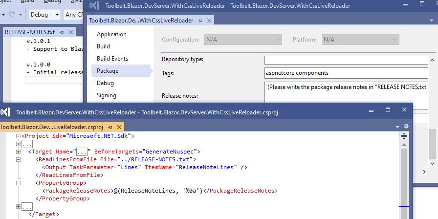 (エディタのXML自動整形でレイアウトが崩れてしまわないよう) プロジェクトファイル外に NuGet パッケージリリースノートを書く_d0079457_21170860.png