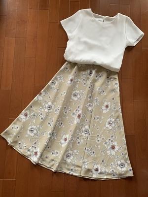 花柄フレアスカート完成しただ 春だねぃ♪_f0251618_15241963.jpg