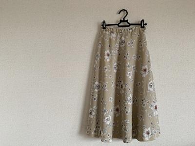花柄フレアスカート完成しただ 春だねぃ♪_f0251618_15252702.jpg