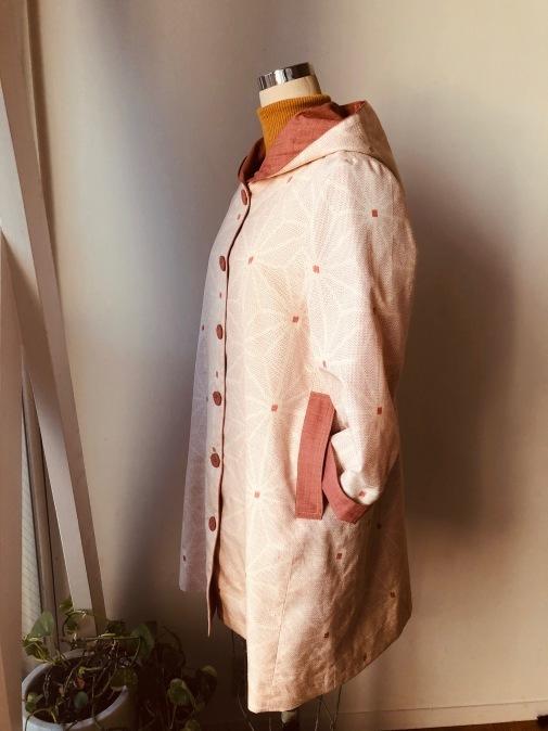 着物着物リメイク/絣のお着物からフードコート_d0127925_09285471.jpg