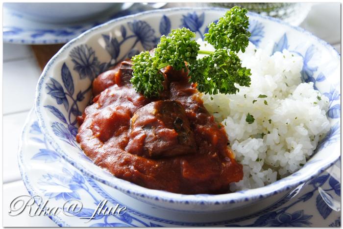 10分でできる鯖味噌煮缶のトマトカレー 【料理リレー】_c0103827_13005648.jpg