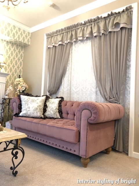 間仕切りと装飾を兼ねたカーテン モリス正規販売店のブライト_c0157866_17582180.jpg