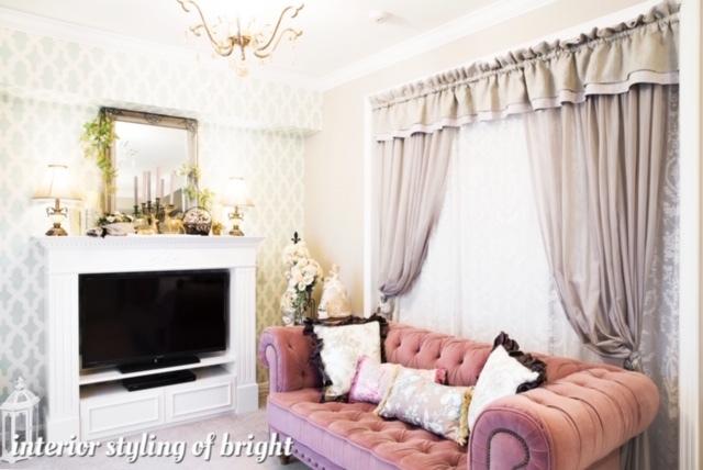 間仕切りと装飾を兼ねたカーテン モリス正規販売店のブライト_c0157866_17584718.jpg