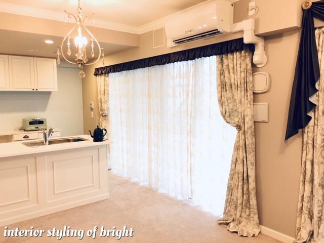 同じ部屋で柄とデザインの違うカーテン 『クラーク&クラーク』『ヴィラノヴァ』『イオニア』_c0157866_17591999.jpg