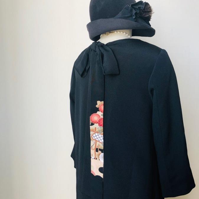 着物着物リメイク/留袖から後ろリボンワンピース_d0127925_15461889.jpg