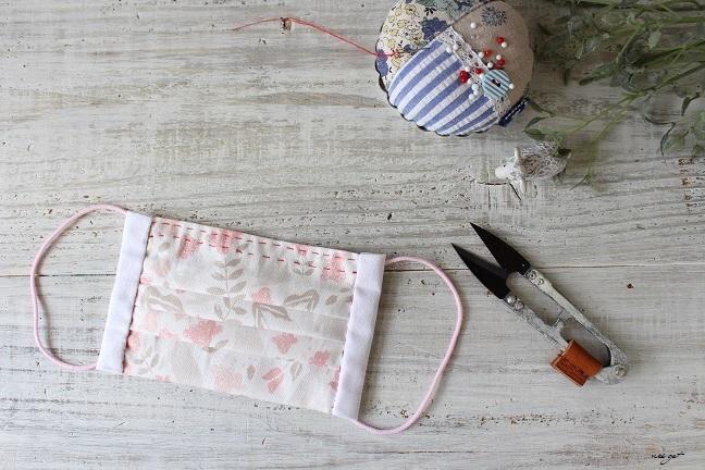 手作り プリーツ 手縫い マスク 簡単