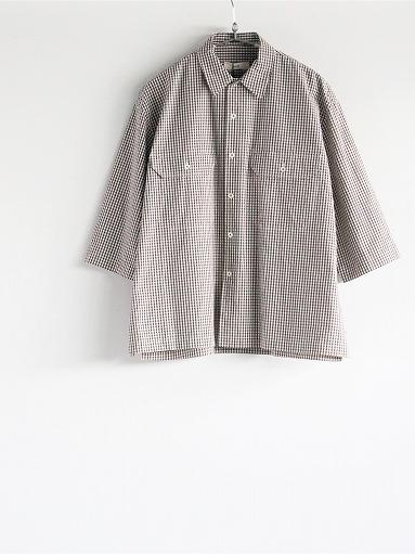 unfil washed cotton-gingham open collar work shirt_b0139281_1652155.jpg