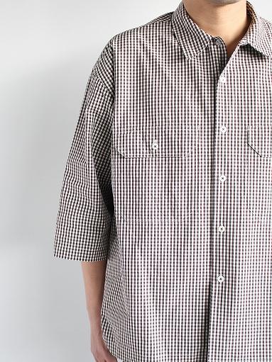 unfil washed cotton-gingham open collar work shirt_b0139281_16523358.jpg