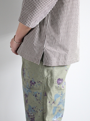 unfil washed cotton-gingham open collar work shirt_b0139281_1652437.jpg
