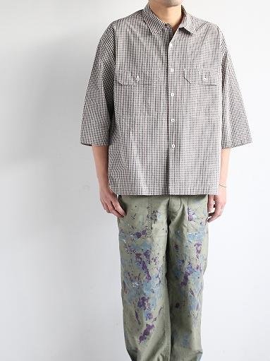 unfil washed cotton-gingham open collar work shirt_b0139281_16525774.jpg