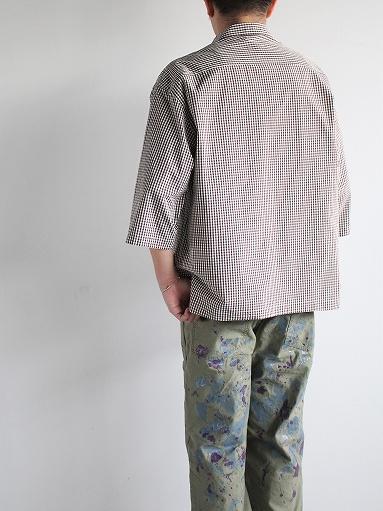 unfil washed cotton-gingham open collar work shirt_b0139281_16532010.jpg