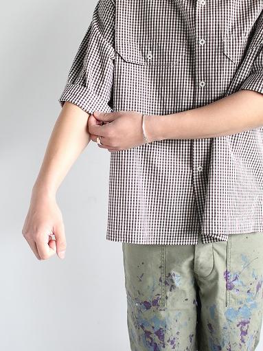 unfil washed cotton-gingham open collar work shirt_b0139281_16533157.jpg