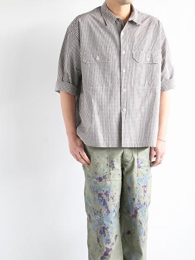 unfil washed cotton-gingham open collar work shirt_b0139281_16534176.jpg