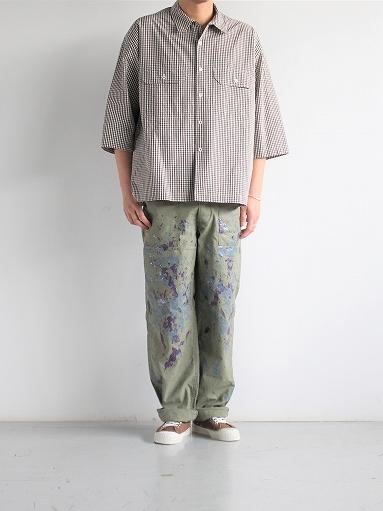 unfil washed cotton-gingham open collar work shirt_b0139281_16535318.jpg
