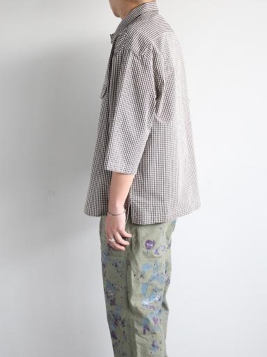 unfil washed cotton-gingham open collar work shirt_b0139281_1653727.jpg