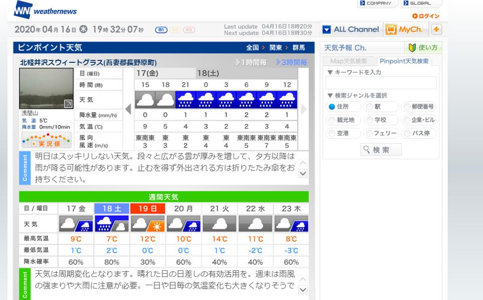 今週末の天気と気温(2020年4月16日)_b0174425_19333452.png