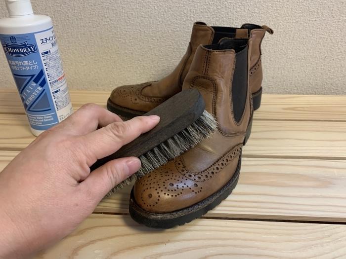 おうちで靴磨き 「靴磨きの基本は汚れを落とすことから」_b0226322_15433768.jpg